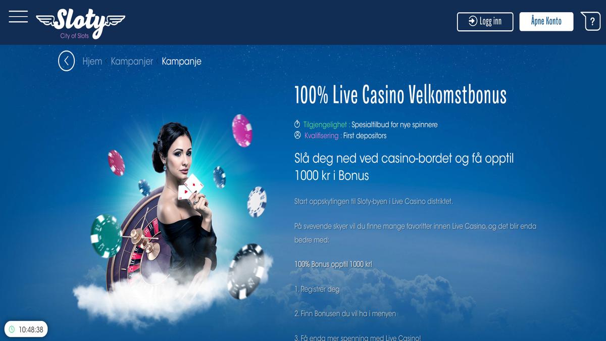 Test av Sloty Live Casino juks svindel