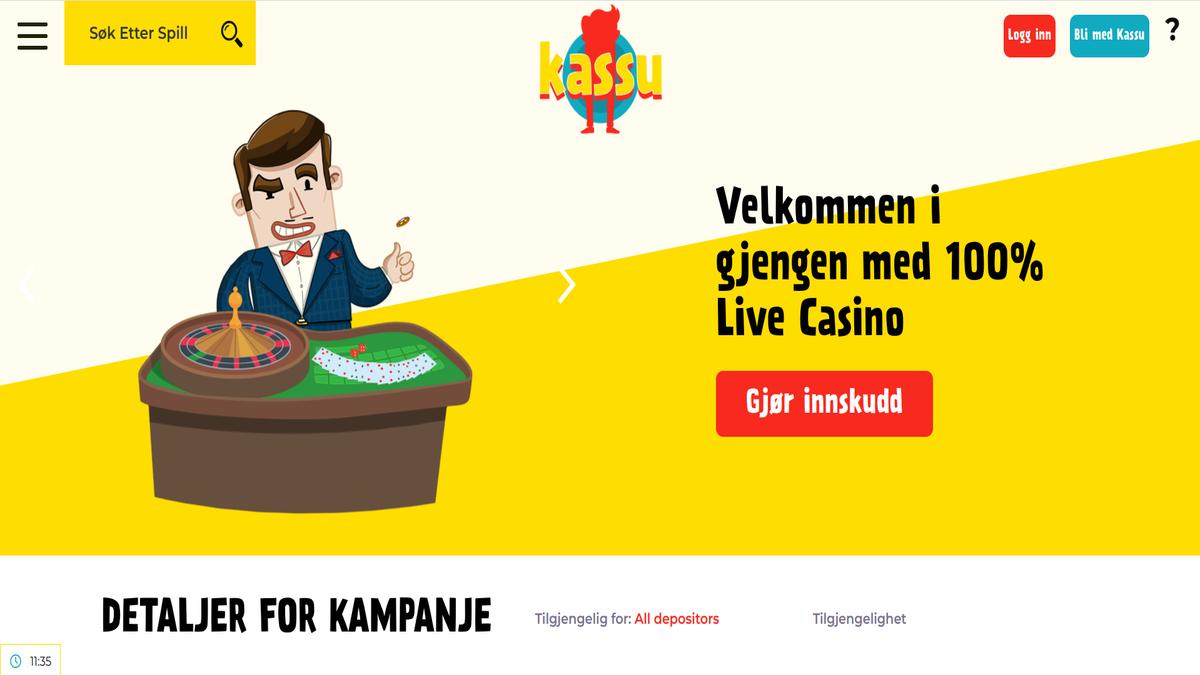Test av Kassu Live Casino bonus